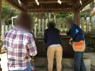 筑波山神社でグループ散策