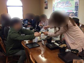 婚活バスツアーの昼食