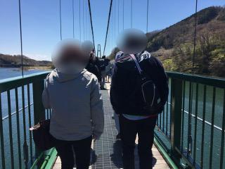 吊橋散策中