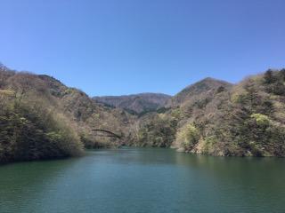 もみじ谷吊橋の景色