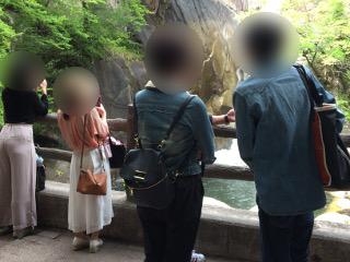 仙娥滝散策中