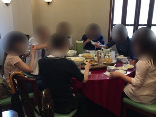 中華街にて飲茶ランチコース