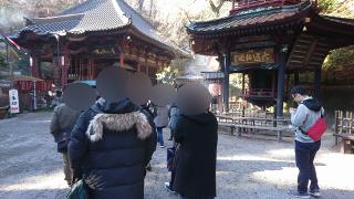 水沢寺にてグループ参拝