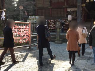 浅間神社で参拝