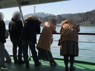 松島遊覧船にて