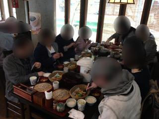 与志田にて昼食