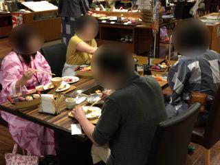 聚楽・婚活バスツアーの夕食
