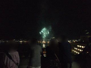 諏訪湖の花火鑑賞