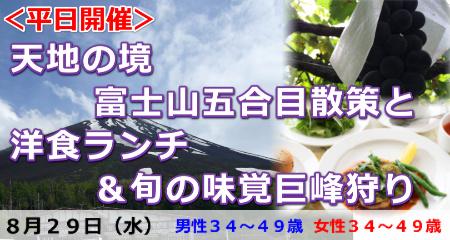 180829 <平日開催>天地の境・富士山五合目散策と洋食ランチ&旬の味覚巨峰狩り