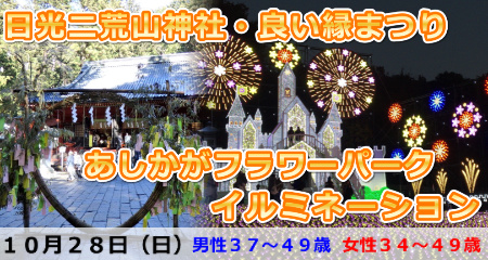 181028 日光二荒山神社・良い縁まつり参拝とあしかがフラワーパークイルミネーション