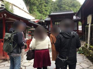 二荒山神社でグループ