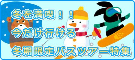 2019 冬を満喫 冬期限定ツアー特集
