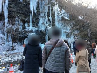 三十槌の氷柱散策