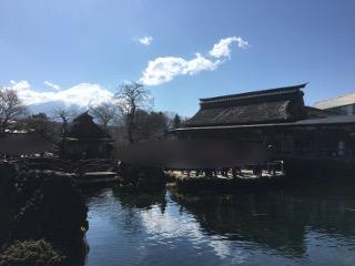 忍野八海と富士山