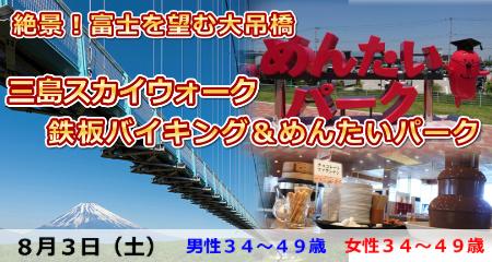 190803 絶景!富士を臨む大吊橋・三島スカイウォーク&鉄板バイキング&めんたいパーク