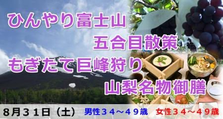 190831 ひんやり富士山五合目散策&もぎたて巨峰狩りと山梨名物御膳